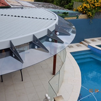 Polycarbonate the new alternative to Glass Awning