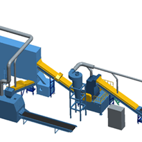 UK Enerpat Copper Aluminum Radiator Recycling Line, Radiator Shredder