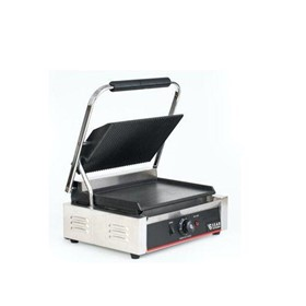 Single Sandwich Press & Panini Contact Grill–Grilled/Flat Plates 2.2kW