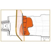 Reusable X-Ray Protective Drape with femoral access: ST-FS5AMM