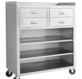 FED - MS116 Mobile cabinet with 4 Drawers and 3 Shelves