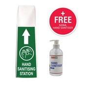 Tall Hand Sanitising Station Floor Stand