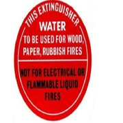 Identification Sign - Water Fire Extinguisher