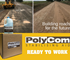 PolyCom Stabilising Aid is building roads for the future. Local Government preferred.