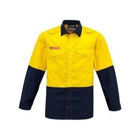 SYZMIK FIRE ARMOUR Mens Hi Vis Inherent Fire Retardant Shirt
