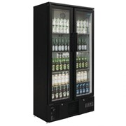 490L Upright Back Bar Cooler with Hinged Doors