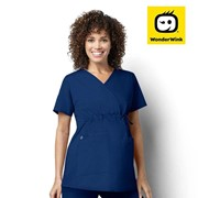 145 WonderWORK Women's Maternity Fit Nurses Medical Scrub Top