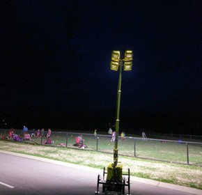 Temporary Sports Lighting – Beacon LED Tower
