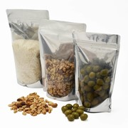 Clear or Black Stand Up Pouches | Food Packaging