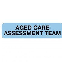 Professional Chart Identification Labels  - Aged Care Assessment Team