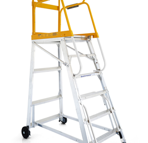 Mobile Platform Ladder - Stockmaster Tracker Pro