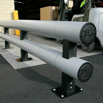 Safety Barrier | A-SAFE | Armco Double-Rail Barrier