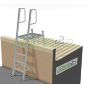 Mini Fixed Parapet Ladder - 1.35m Kit with Angle Handrails