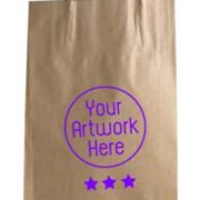 Small Brown Paper Bag | Printed | Paper Twist Handle | QIS Packaging