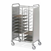 Tray Collection Trolleys with Stainless Steel Panels on Two Sides