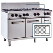 LUUS Griddles & Ovens - RS-6B3P, 6 Burner 300mm