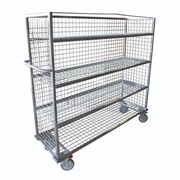 Custom Mesh Stainless Steel Shelf Trolley
