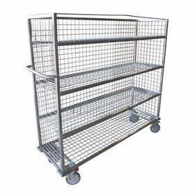 Custom Stainless Steel Shelf Mesh Trolley