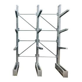 Galvanised Cantilever Racking | 4267mm 2 Bays Single Base