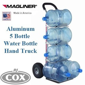Aluminum 5 Bottle Water Hand Truck Trolley - Made in the USA