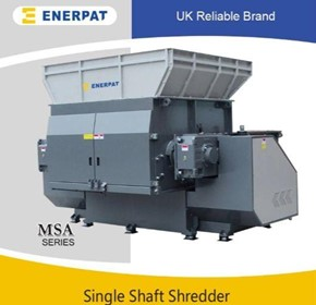 High Efficiency Single Shaft Shredder for Aluminium Cans Bale