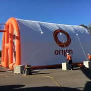Inflatable Turbine Blasting Shelter-Power Plant Maintenance Shelters