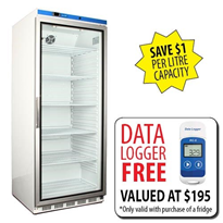 Nuline Vaccine Fridge 580LT Glass Door | FREE DATA LOGGER | NULHR600G