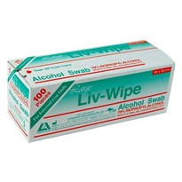 Liv-Wipe Large Alcohol Swabs - 100 per Box