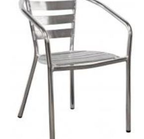 Polished Aluminium Outdoor Chair | Cello