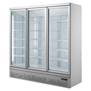 F.E.D Thermaster Three Glass Door 1500L Drink Fridge | LG-1500GBM