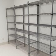 Wire Shelving Protected by Steritouch