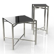 Mobile Buffet Table | Cross Cube Corner Top | Square Table