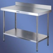 Stainless steel work bench with Splashback 700 Series