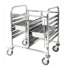 Double Gastronorm Trolley  740 x 550 x 1000mm