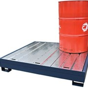 Drum Bunds & Spill Pallets | 4 Drum Containment Bunds - Powder Coated