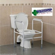 Over Toilet Surround Adjustable Height | Steel Powder Coated