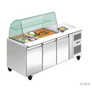 FED THP3100SALGC three door DELUXE Salad Bar