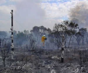 The data gathered by the system will be delevoped to build the next generation of fire behaviour models