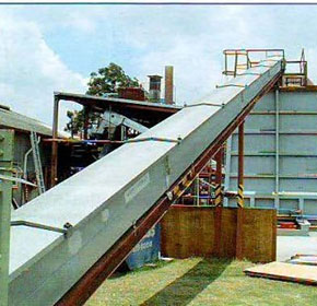 Aerobelt conveyor cuts wood plant costs
