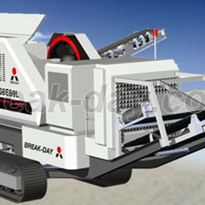 Crawler type mobile crushing & screening plant