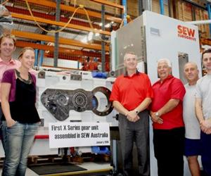 The SEW-Eurodrive Australia industrial gear-unit team are now assembling X-Series units.