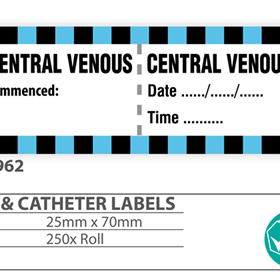 Medical Label - Central Venous