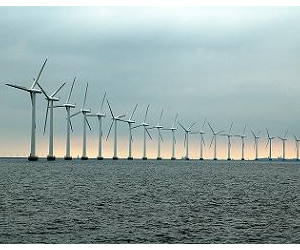 Researchers analyzed hypothetical power output from five-megawatt offshore turbines.