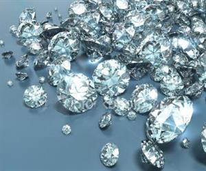 The size of the diamond crystal affects how it emits light.
