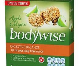 Uncle Tobys now has a focused bar with the name Bodywise Digestive Balance bars.