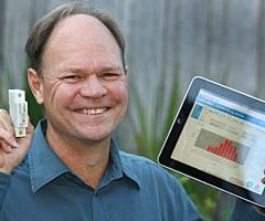CSIRO Project Leader, Dr Martin de Groot, developed the smart metering technology in conjunction with Tasmanian company, Saturn South. Image by Roger Lovell.