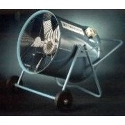Industrial fans cool the workplace