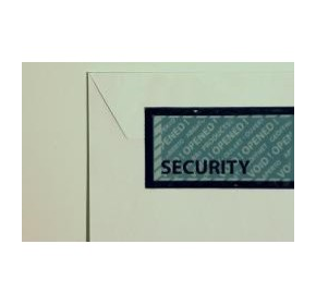 Pilferage is reduced by the use of Tamper Evident security seal