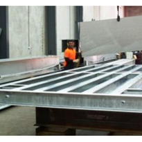Heavy duty platform scales for galvanising works