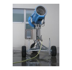Evaporator water cannon eliminates water transport cost